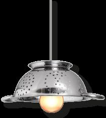 Lampe typique du restaurant du Sô